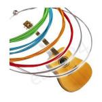 6 Regenbogen bunte Farbsaitensatz für Akustikgitarre 1M Musikinstrumente