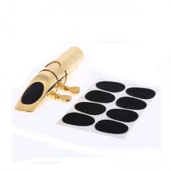 8stk 0.8mm Soprano Saxophone Klarinet Mundstykke Patches Pads Puder