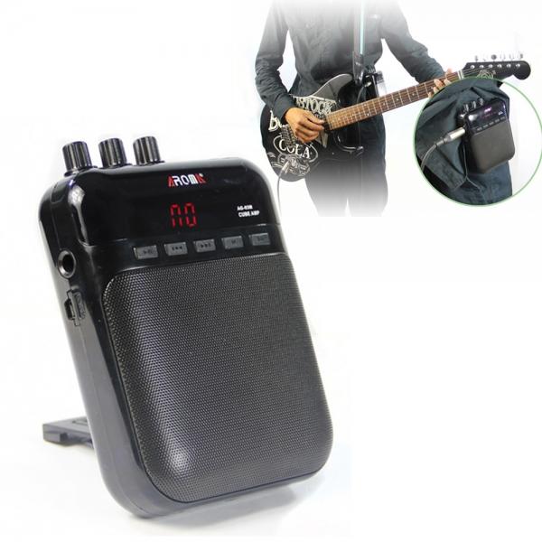 AROMA AG-03M Bärbara Laddning Mini Gitarrförstärkare Black Musikinstrument