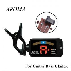 AROMA AT-100 Gitarr Bass Ukulele Clip-On Digital Gitarr Tuner