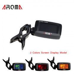 AROMA AT  200D Tuner Clip Chromatic Guitar Bass Ukulele Violine Tuner