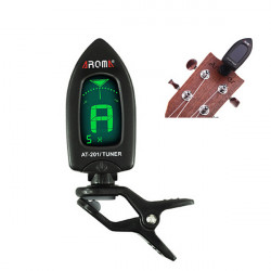 AROMA AT 201 Tuner Clip Chromatic Guitar Bass Ukulele Violine Tuner