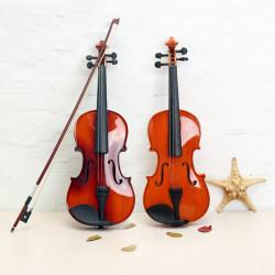 ASTONVILLA AV02 4/4 Imitation Ebony Delar Granved Acoustic Violin
