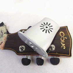 Akustisk Gitarr Luftfuktare med Luftfuktighet Temperaturgivare Silver