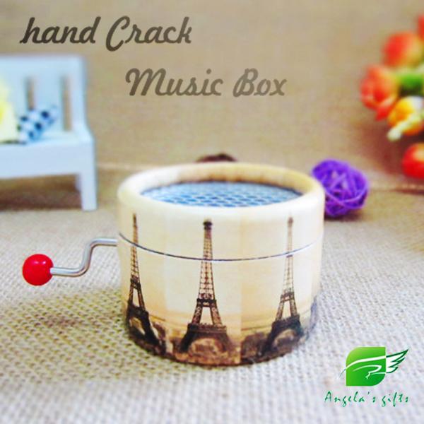 Angelas Handvev Musikbox Souvenirer Presenter Paper Antik Musikinstrument