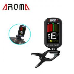 Aroma AT- 203B Guitar Tuner Color LCD-skærm 360 Degree Drejeligt