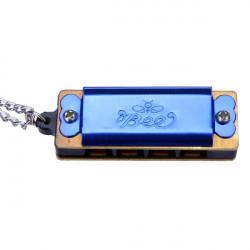 BEE Mini Mode 4 Löcher 8 Sounds Kinder Halskette Mundharmonika