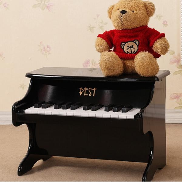 Bedste 25 Key Musikinstrument Pædagogisk Legetøj Mini Piano Træ Musikinstrumenter
