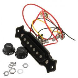 Sort Humbucker Dobbelt Rail Elektrisk Guitar Pickup Dele