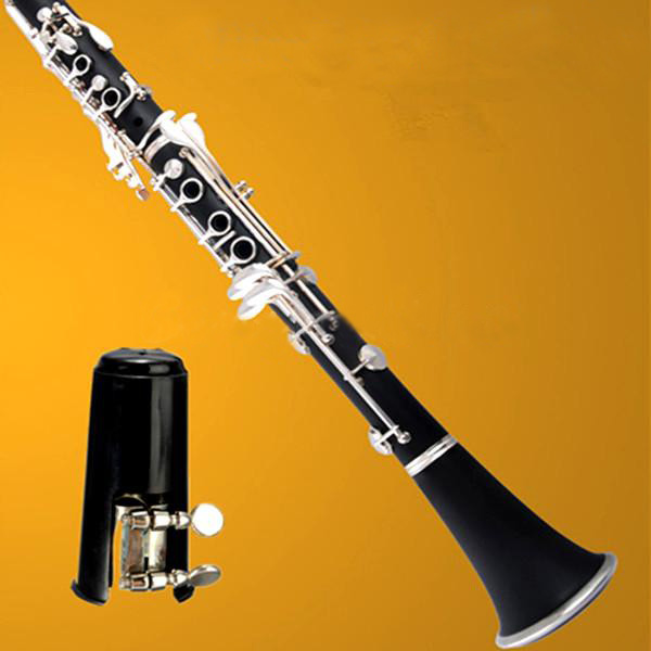 Svart Munstycke Nickelmetallhydrid Ligature för Bb Clarinet Musikinstrument