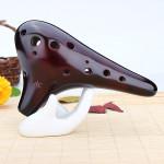 Kinesisk Klassisk Stil 12 Hål Alto Tonart C Pyrande Okarina Musikinstrument