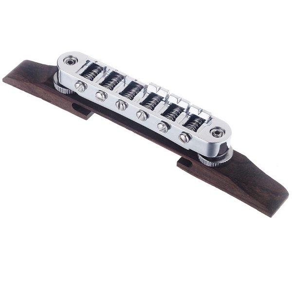 Chrome Guitar Bridge Roller Saddle Metal Rosewood Guitar Accessories Musical Instruments