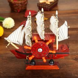 DIY hölzerne Spieluhr Segelboot mit Blue Sail Music Box
