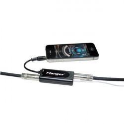 Flanger FC-20 Gitarr / Bas Omvandlare Svart Adapter till iPhone