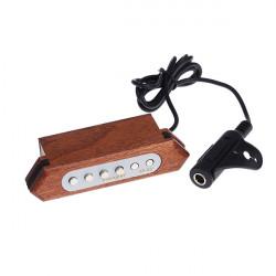 Flanger FP-2 Ljud-håls Pickup Givar Trä för Akustisk Gitarr