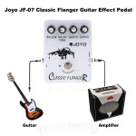 Flanger Joyo JF-07 Classic Guitar Effect Pedal with True Bypass Design Musical Instruments