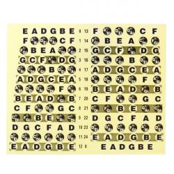 Guitar Neck Fretboard Note Map Fret Sticker Lables Decals Learn Fingerboard