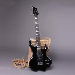 IRIN Flamme Typ E Gitarre mit Kabelbinder Schwarz
