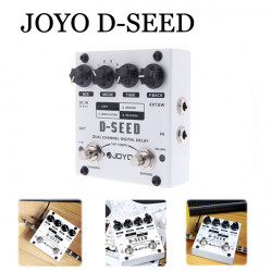 Joyo D-SEED Dual Channel Digital Delay Gitarr Effect Pedal Fyra Lägen