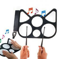 Konix Faltbare Silikon Material USB E Drums mit Drumsticks