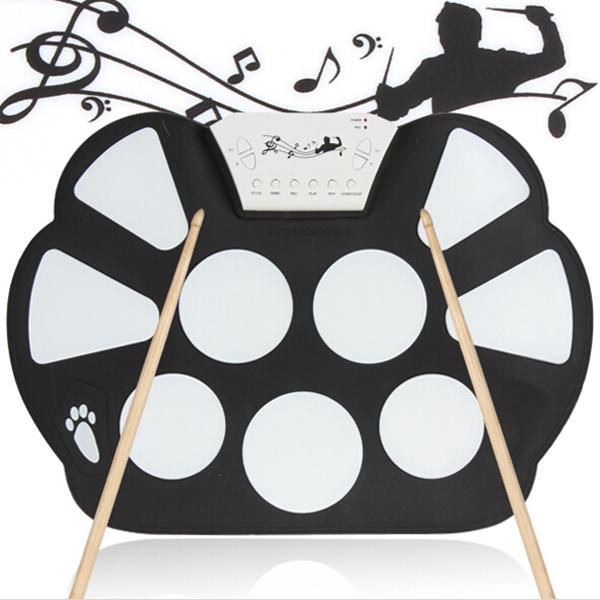 Konix Faltbare Silicon elektronische Roll Up MIDI Drum MD758 Musikinstrumente