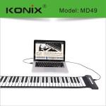 Konix USB 49 Key MIDI flexible Silikon elektronische Roll Up Piano MD49 Musikinstrumente