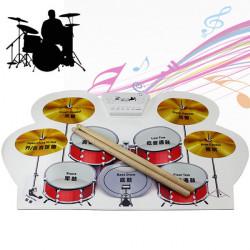 KONIX USB MIDI Drum Kit PC Desktop Silikon Electronic Roll Up Drum MD1008