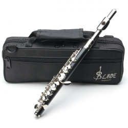 LADE ABS Pipe Silver Tonart C Piccolo med Tyg Case