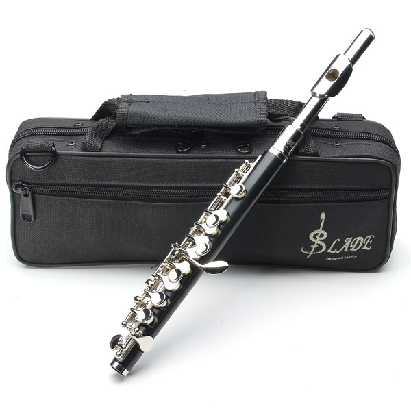 LADE ABS Pipe Silver C Tone Piccolo med Klud Case Musikinstrumenter