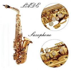 LADE Alto Eb Goldenen Saxophon Sax Farbe Gold mit Etui und Zubehör