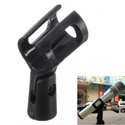 M-6 Microphone Clip Holder Plastic Clamp Basic Gear Black