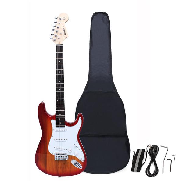 Ahorn Griffbrett elektrische Gitarre mit Gig Bag Zubehör Monochrome Musikinstrumente
