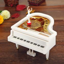 Mechanical Classical Piano Music Box Dancing Ballerina White