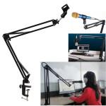 Mikrofon Suspension Boom Saxarmen Stand Hållare för Broadcast Musikinstrument