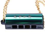 Mini Halsband Echo Munspel 4 Hål 8 Toner 6 Färg Hängande Musikinstrument