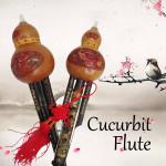 Naturliga Bamboo Kalebass Cucurbit Flöjt Tonart C med Mål Etnisk Instrument Musikinstrument