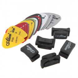 Ny Guitar Headstock Rubber Pick Holder + 2stk Guitar Picks