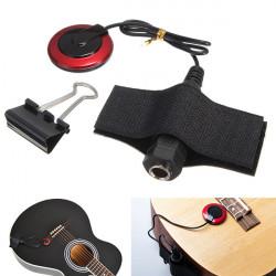 Piezo Kontakta Mikrofon Pickup 1/4 '' Jack Violin Fiol Ukulele Guitar
