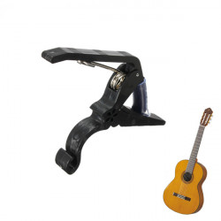 Quick Change Turn Clamp Key Capo For Acoustic Electric Classic Guitar