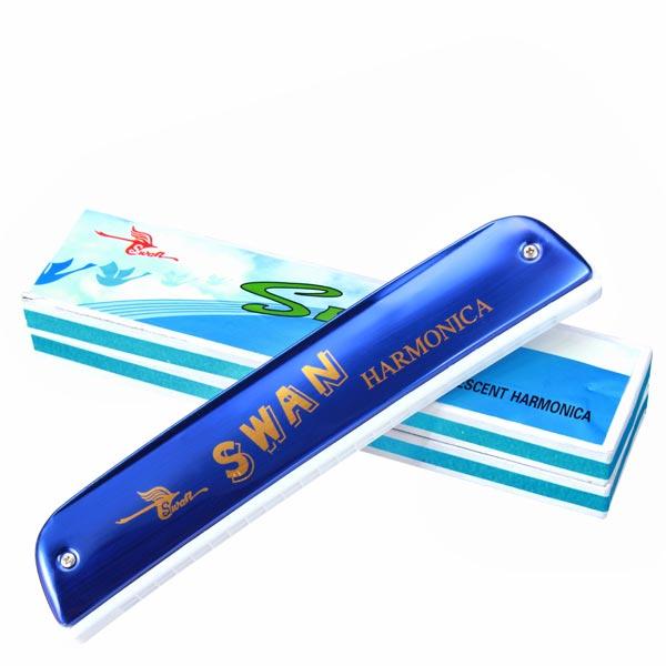 Swan SW24 10 Tonart C 24 Löcher Tremolo Mundharmonika Musikinstrumente