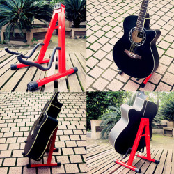 Universal Folding A-Frame Electric Acoustic Guitar Floor Stand Holder