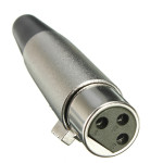 XLR 3pin Jack Female-Adapters for Speaker Microphone 18AWG Cable Silver Musical Instruments