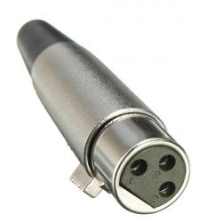 XLR3pin Jack Female Adapter für Lautsprecher Mikrofon 18 AWG Kabel Silber