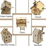 Zakka DIY Holz Assembled Handkurbel Spieluhr Musikinstrumente