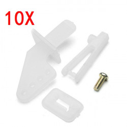 10X Rudder Servo Rob Angle Set For RC Airplane With 1mm Chuck Screw