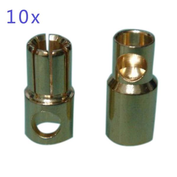 10x 6MM Diameter Gold-Plated Banana Plug RC Toys & Hobbies