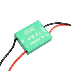 12V 3A / 5V 1.5A BEC CNC Shell für 1.2G 5.8G Drahtlos Audio Video