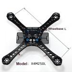 250mm 4-Axis Quadcopter Frame Kit Landing Skid Glass Fiber Carbon Fiber RC Toys & Hobbies
