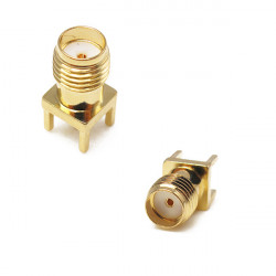 2PCS SMA Female Adapter Edge Mount Solder RF Connector 0.062