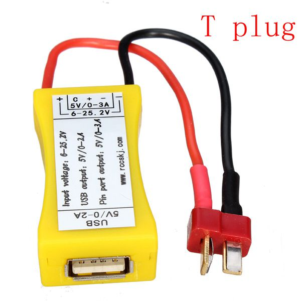 2S-6S Lipo till USB-omvandlare Adapter med UBEC LED Funktion Radiostyrt
